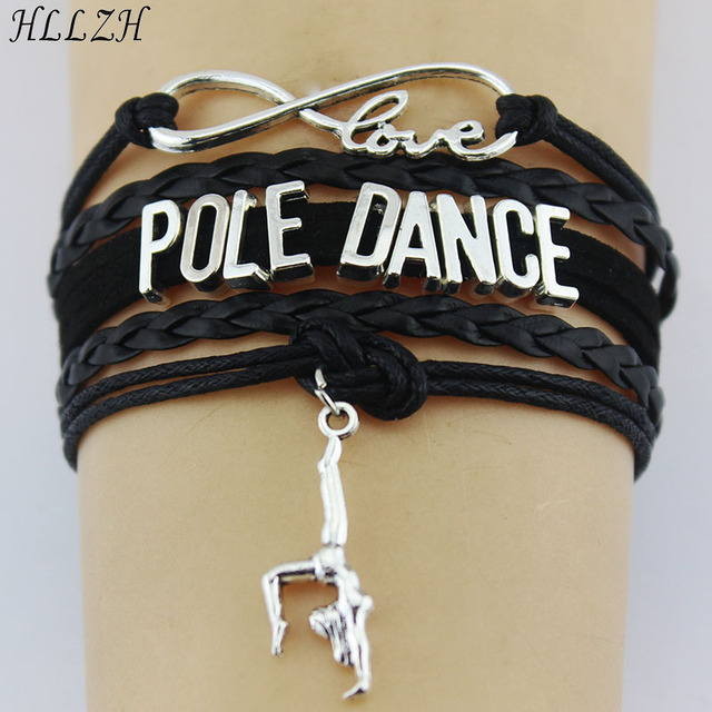 Hllzh Infinity Love Pole Dance Bracelets Charm Handmade Braided Rope Leather Weave Bangles For Women