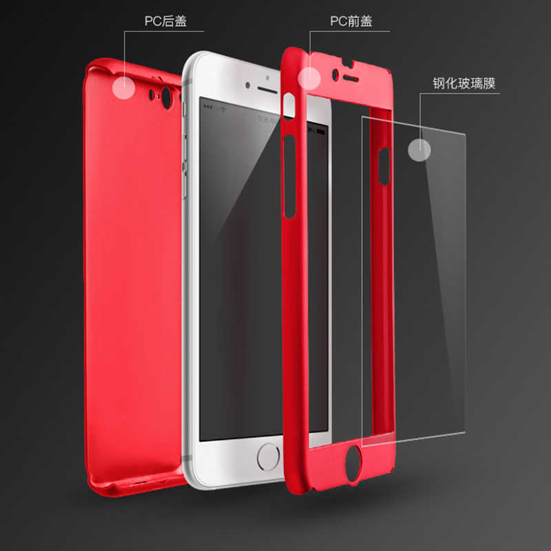 f9989588494 ... Hybrid 360 Full body Nanoskin Case Cover+ Tempered Glass for coque  iPhone6 6s iPhone 6 7 ...