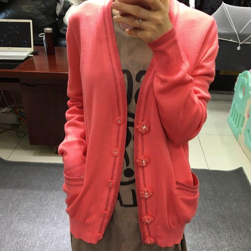 متوسطة طول الصوف سترة رقيقة معطف جيب امرأة جميلة زر الديكور متماسكة سيدة سقوط جديد 2019-في سترات صوفية من ملابس نسائية على  مجموعة 1