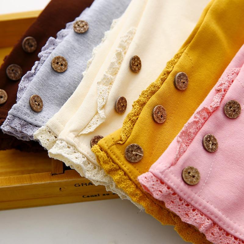 2017 Coréen Filles Enfants Bonbons Couleurs 3 Boutons Legging Printemps Été Enfant Vêtements Bébé Coton Pantalon De Danse Pantalon