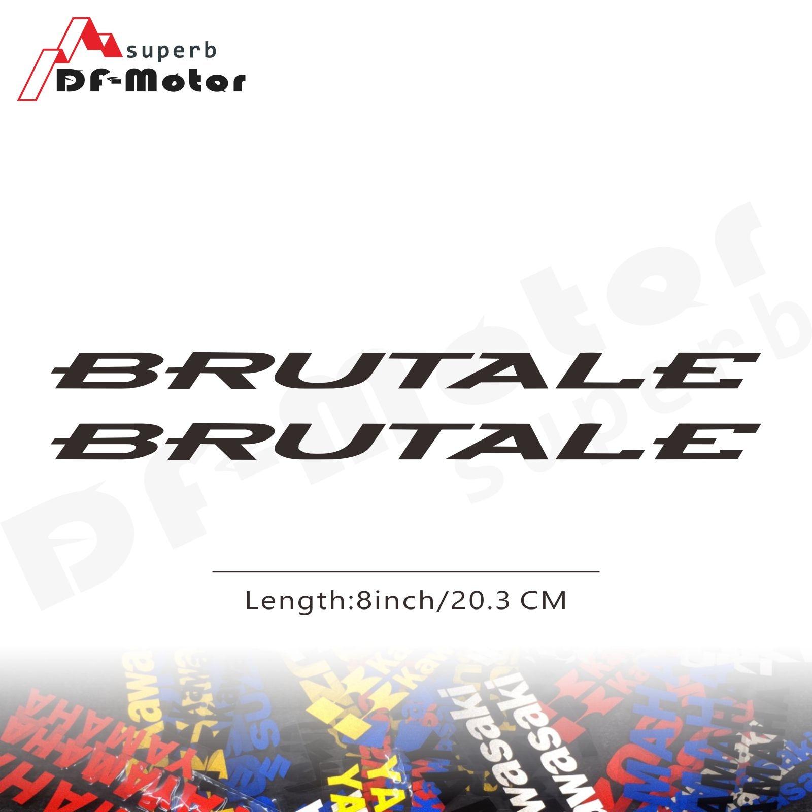 8Inch Reflective Sticker Decal Motorcycle Car Sticker Wheels Fairing Helmet Sticker Decal For MV Agusta Brutale