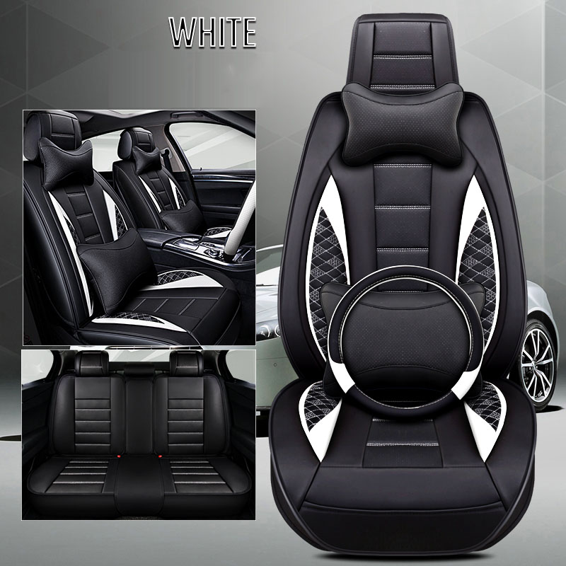 Car seat cover leather for dodge grand caravan intrepid journey nitro ram <font><b>1500</b></font> stratus of 2018 2017 2016 2015 image