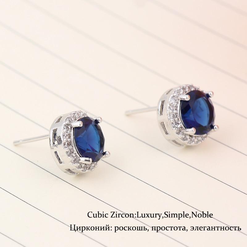 Круглая Форма Белый Красный Синий - Модные украшения - Фотография 5