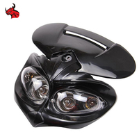 Hot Selling New Universal Motorcycle Motorbike Off road Headlight Fairing Lamp Headlamp STREETFIGHTER Enduro Cross