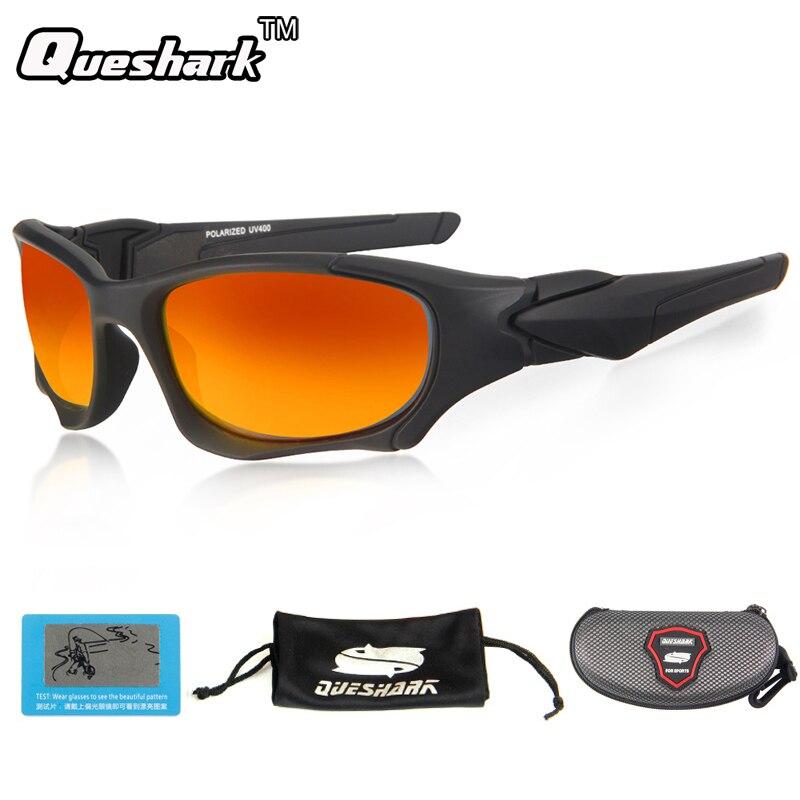 Queshark uv400 ultraleve óculos de sol polarizados óculos de pesca esportes ciclismo escalada caminhadas pesca eyewear