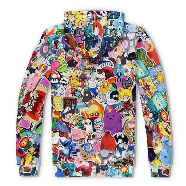 N  Rick and Morty men hoodies sweatshirts 3D Print cotton sweatshirt Hooded Unisex Scientist Anime Hoodies men/women clothing  2