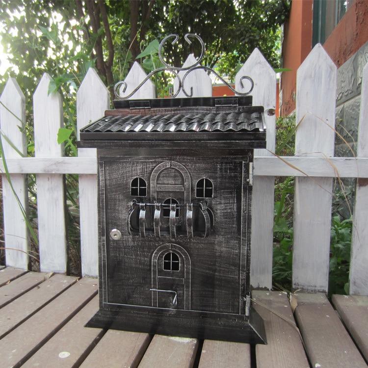 European Church Mailbox South American home mailbox letter newpaper magazine metal box free shipping