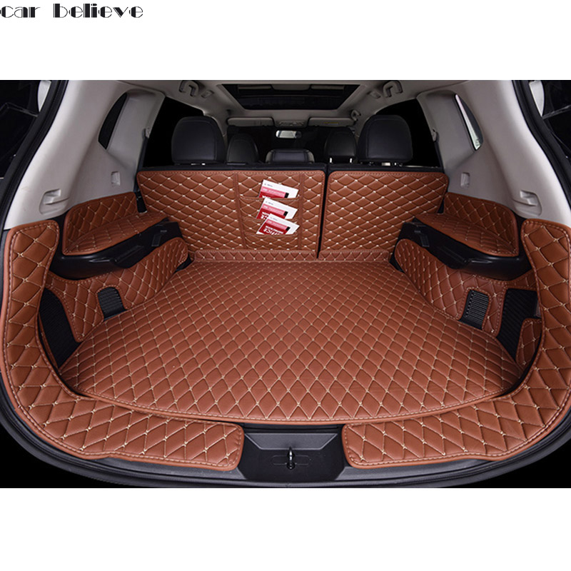 Car Believe Custom car trunk mat For nissan x-trail t31 t32 2016 Cargo Liner Interior Accessories Carpet car styling Foot mat custom fit car trunk mat for nissan altima rouge x trail murano sylphy versa tiida 3d car styling tray carpet cargo liner page 8