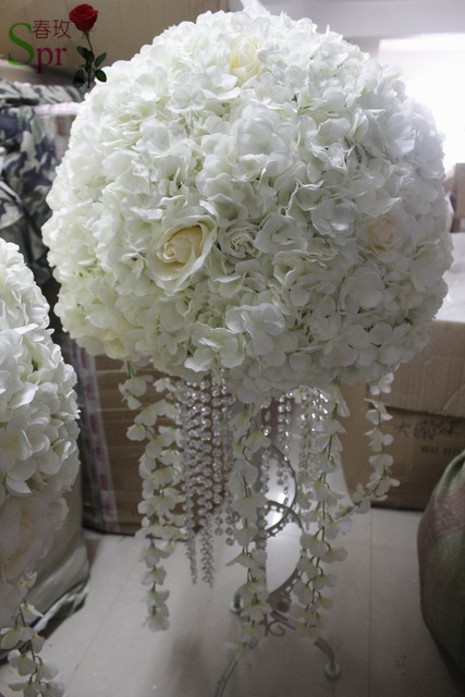 Spr free shipping new 50cm dia wedding artificial flower wedding spr free shipping new 50cm dia wedding artificial flower wedding table flower ball centerpiece decorative junglespirit Image collections