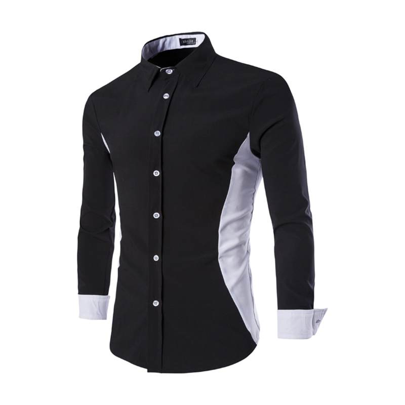 Fashion design men shirt korean slim fit mens dress shirts for Men s dress shirt accessories