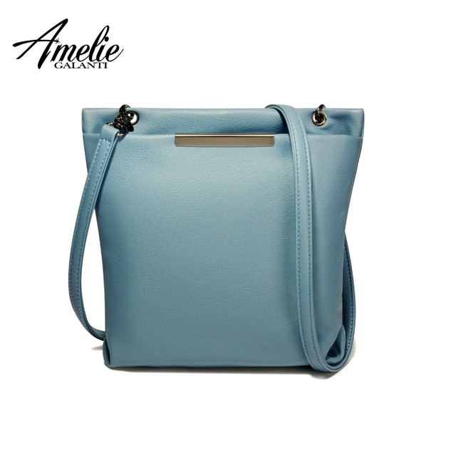 AMELIE GALANTI Buckets Crossbody Bags for Women Multi-Pocket Casual Messenger Bag Soft PU Leather Solid Zipper Adjustable-Strap