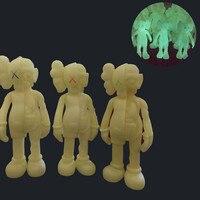 Nouveautés 20 CM/37 cm KAWS Disséquée Companion figurines Corps Lumineux Coloré X Yeux jouets pour Collection jouets En Boîte Rouge