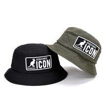 High Quality DSQICOND2 Bucket Hat Men Women Outdoor Fisherman Cotton Black Green 2 Colors