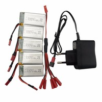5pcs Lithium battery with 1 care 5 conversion line European regulations for the charger SYMA X56 X56W X54HW folding UAV parts