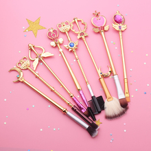 8PCS Sailor Moon Cosplay Wand Makeup Brushes Tool Professional Portable Brush Kit Powder Cosmetic цена в Москве и Питере