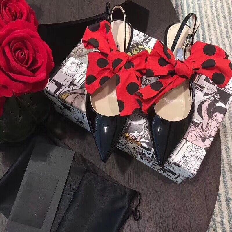 Talons As Robe Mode En De Verni Hauts 40 Femmes Sexy Show Show Sandales Bowknot Grand Cuir Parti Chaussures Pointe Piste Pompes as Mariage Hanbaidi Toe 6xq1E0Y