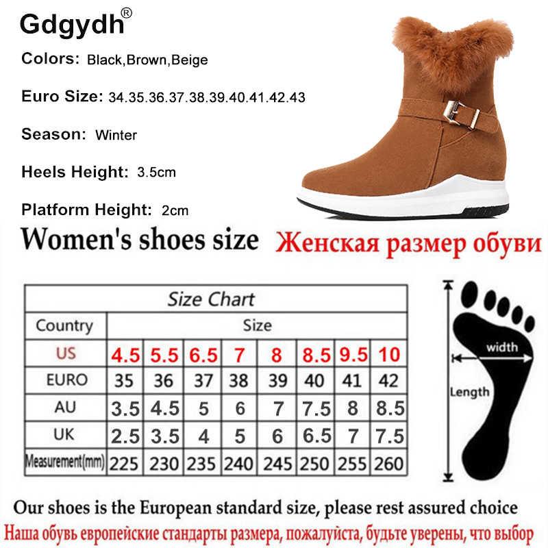 Gdgydh Flats ฤดูหนาวรองเท้าข้อเท้ารองเท้าบูทสำหรับสุภาพสตรี 100% จริงอบอุ่นสุภาพสตรี 2018 รองเท้าใหม่ส้นแบนหิมะรองเท้าซิป