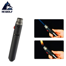 Hewolf  Outdoor Camping Picnic Lighter 1300degree Torch Jet Flame Pencil Butane Gas Refillable Fuel Welding Soldering Pen