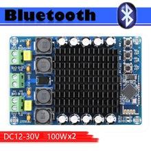 все цены на TDA7498 CSR8635 4.1 Bluetooth Class D audio amplifier board Dual Channel 2*100W  power supply DC12-24V онлайн