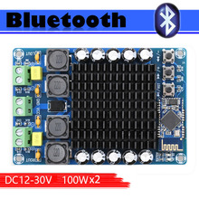 TDA7498 CSR8635 4.1 블루투스 클래스 D 오디오 앰프 보드 듀얼 채널 2*100W 전원 공급 장치 DC12 24V