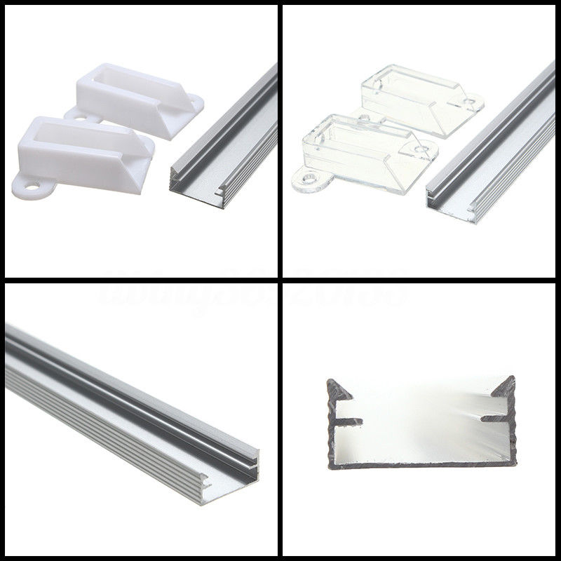 30/50cm XH-058 Aluminium Channel Holder For LED Strip Light Bar Milky/Clear LED Bar Light Channel Holder Protector