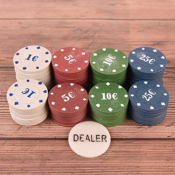 100PCS Professional Poker Chip 4 Denomination Set for Texas Hold'em Blackjack Roulette Tournament Poker Collection Lover image