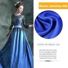 Matte seide stoff Elastischem satin stoffe 150*100 cm Patchwork Nähen für Frauen mode kleid Imitation silk Chinesischen stil kleidung