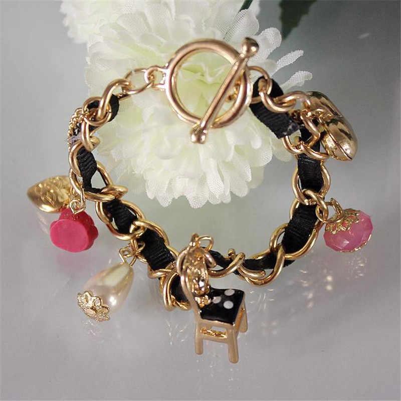 Pulseira da moda 2014 de moda de Nova e pura e fresca e elegante cadeira contratada pulseira da senhora 130610 corações mais elementos