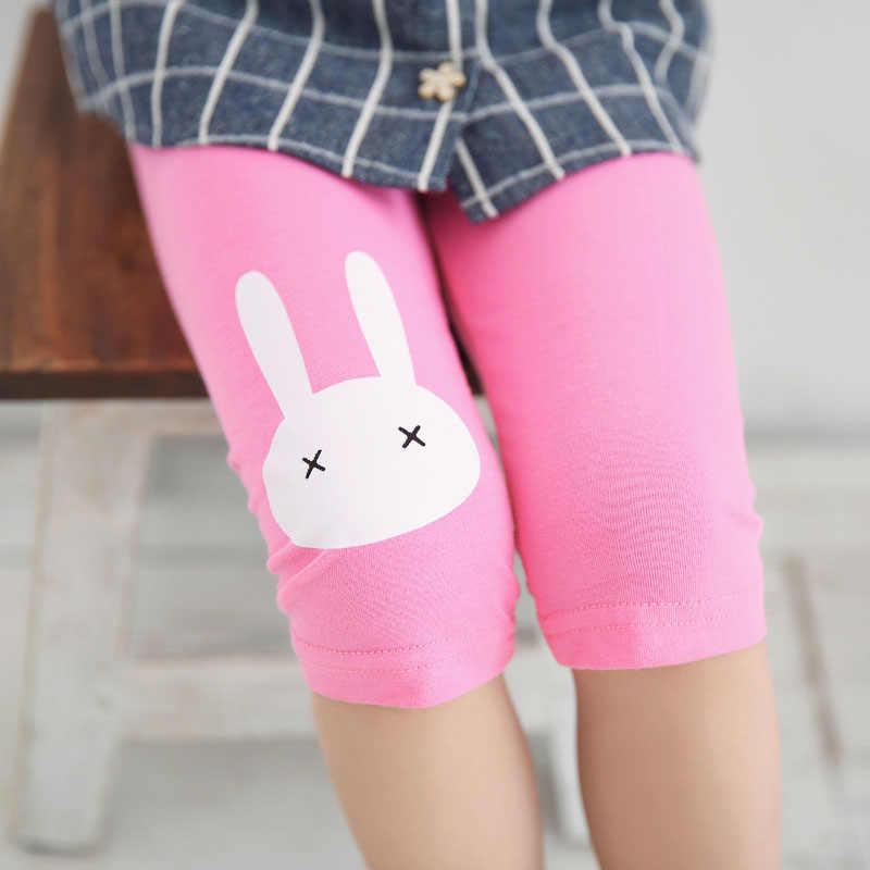 Çocuk Kız Tozluk Yaz Diz Boyu Pantolon Pembe Sevimli Baskılı Karikatür Tavşan Bebek Kız Elbise Pantolon Çocuk çocuk pantolonu
