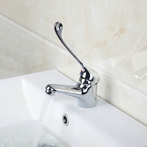 Disabled Person Medical Waterfall Deck Mounted Single Handle 8709 Chrome  Bathroom Basin Torneira Faucets,Mixers