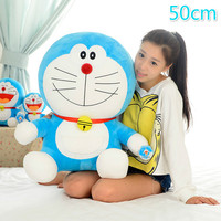 Big 50cm Cute Cat Stuffed Animal Doll Doraemon Plush Doll Kids Toy Gift For Children Birthday Holiday Good Quality