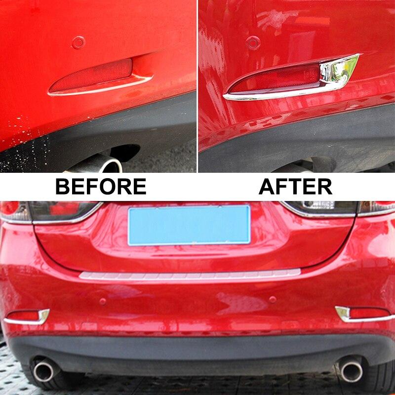 Для Mazda 6 Atenza M6 GJ хромихромированный задний отражатель бампер противотуманный светильник крышка лампы Отделка ободок формовочная полоса