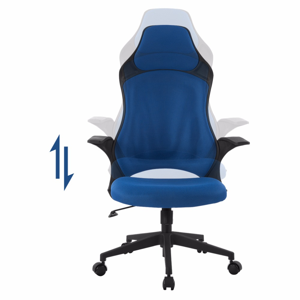 chair for office use windsor rocking plans langria brand blue ergonomic high back mesh executive gaming computer home