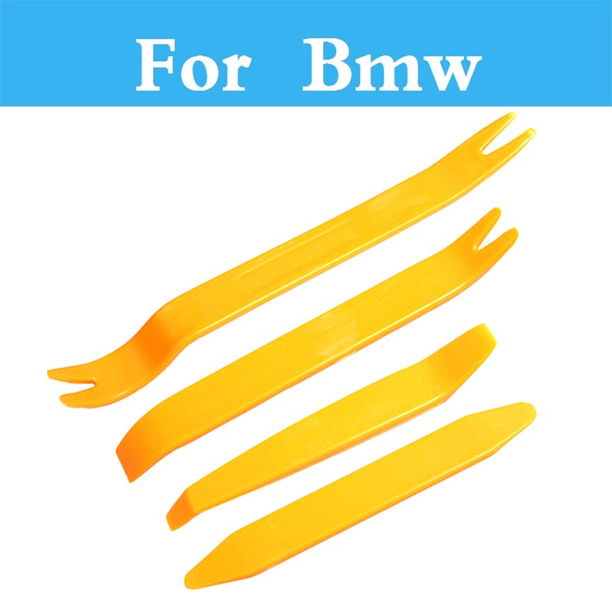 4pcs Plastic Car Radio Door Clip Panel Trim Dash Audio Removal Pry Tool For Bmw 328i 330i 335i 320i 325i