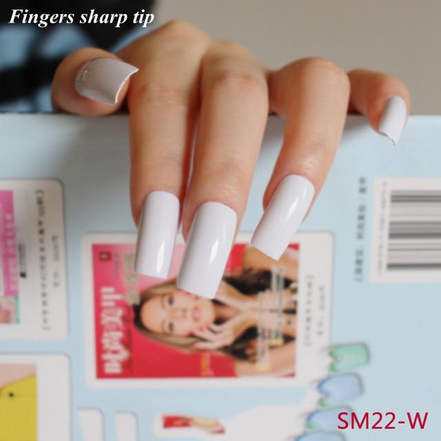 2018 New Trend 20 Pcs/set Nail Tips Acrylic Long false nails ...