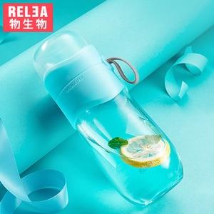 Tea Infuser Bottle 2 pieces glass plastic handler stainless steel strainer leaf tea travel outdoor teapot filter drink flask