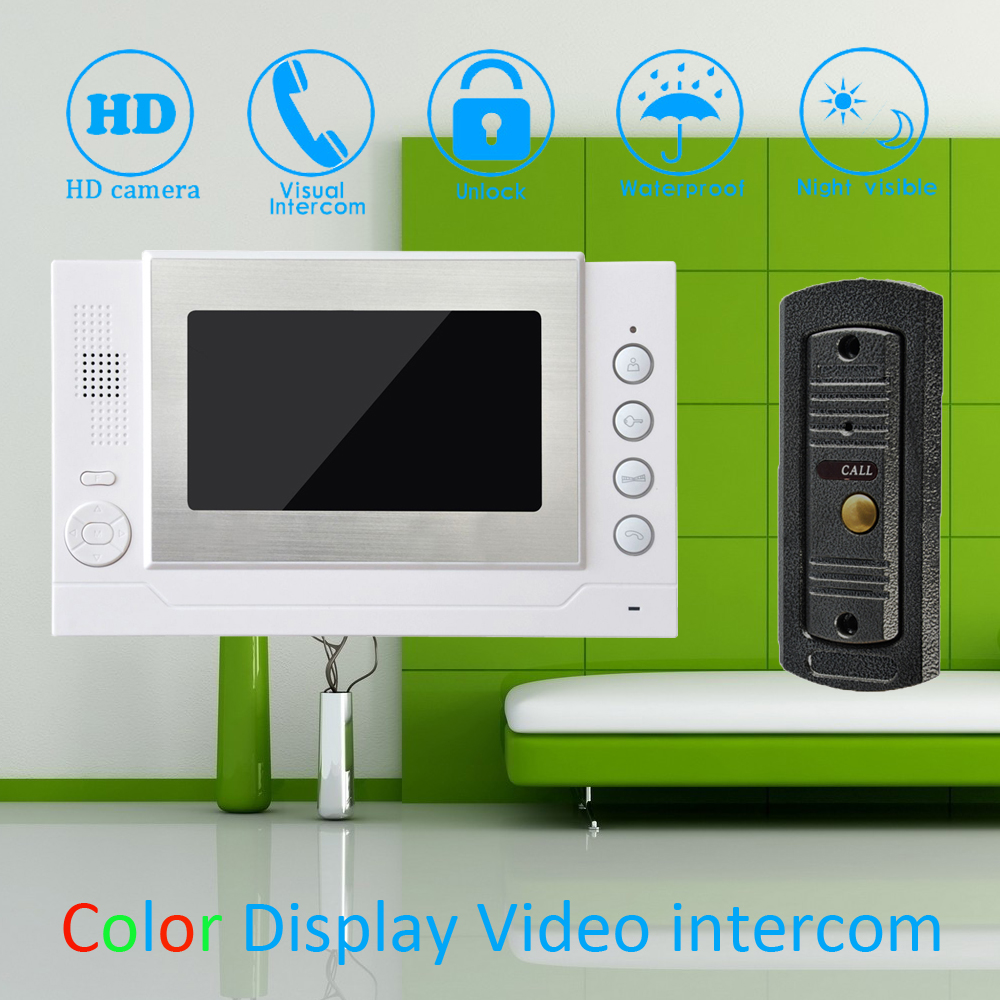 (1 Set) 7'' Color Touch Monitor Home Improvement Video Door Phone Home Security Digital Doorbell Door Access Control Intercom home improvement
