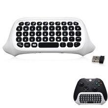 2.4GHz Mini Wireless Keyboard Handheld Keyboard Gaming Message Gamepad Keyboard 47 Keys for XBOX ONE Slim Controller