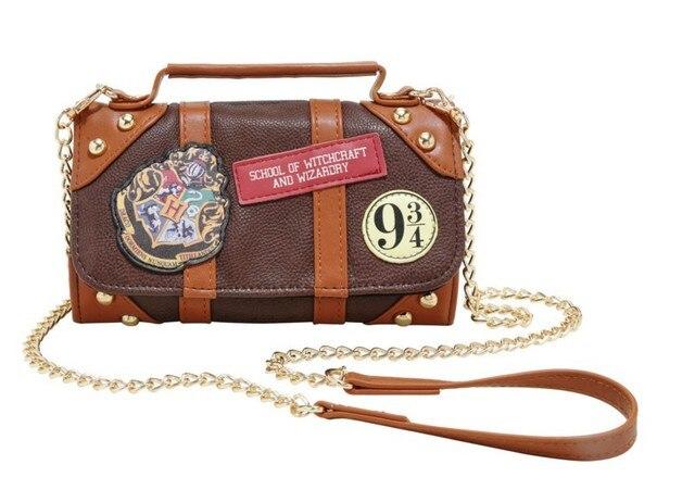 Harries Поттер Хогвартс Платформа 9 3/4 багажник через плечо сумка-кошелек Косплей Харри Поттер Хогвартс PU школьный кошелек с эмблемой