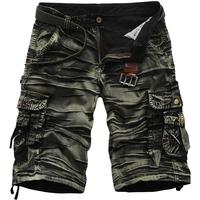 New Shorts Men Cool Camouflage Summer Hot Sale Cotton Casual Men Short Pants Brand Clothing Comfortable Camo Men Cargo Shorts