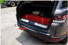 цена на rear bumper cargo sill plate cover 3pcs for Land Rover Range rover  Sport 2014
