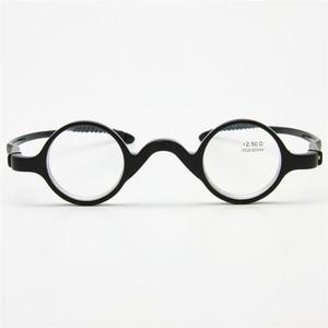 Image 5 - 3 쌍 팩 클래식 레트로 라운드 프레임 독서 안경, 교사 음악가 유연한 포켓 리더 + 1.0 ~ + 3.5 소프트 케이스와 함께