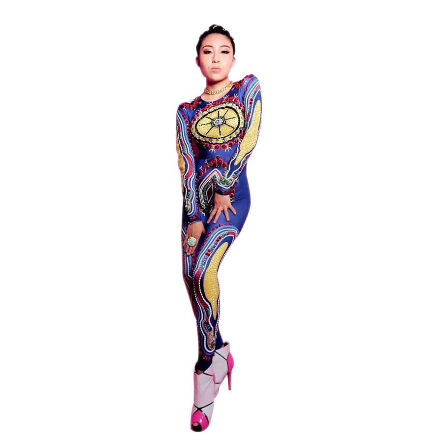 La MaxPa nouveauté costume de scène pour chanteuse femme chanteur costume sexy femmes moderne danse combinaisons bar ds dj danse tenue