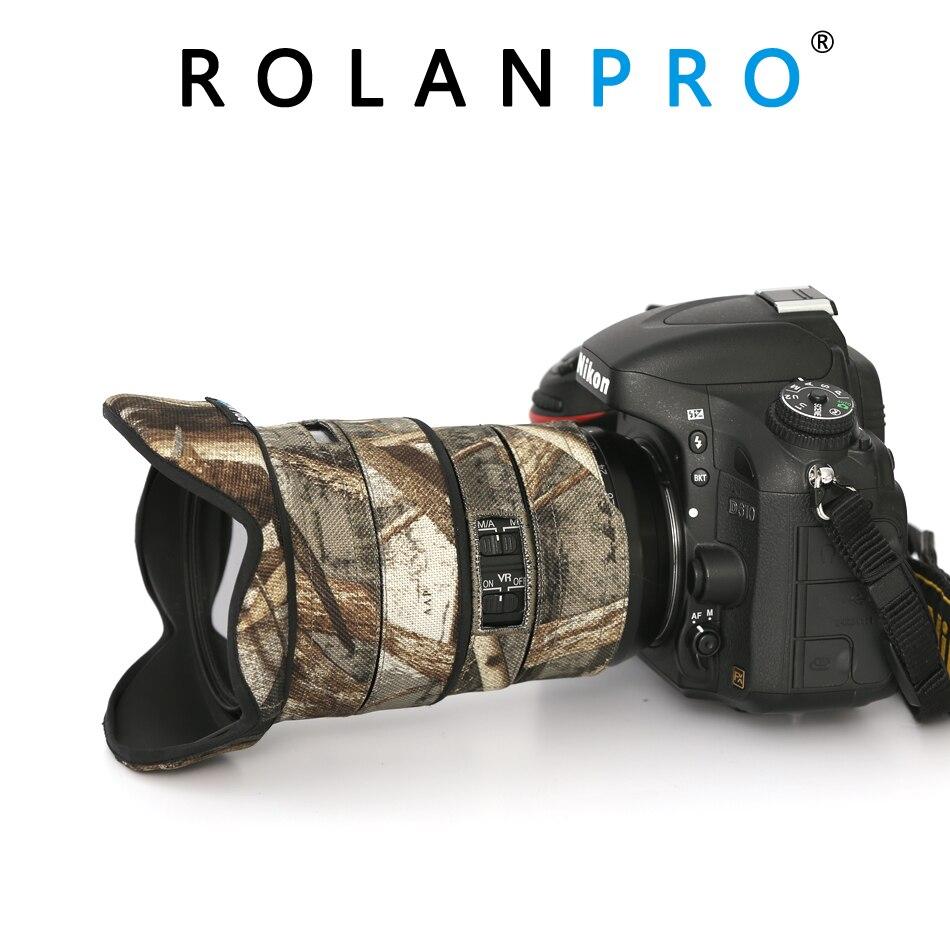 Capa de Chuva para Nikon Rolanpro Lente Camuflagem Cabolsa 16-35mm f – 4g ed vr Manga Protetora Armas Roupas Proteção Case Afs