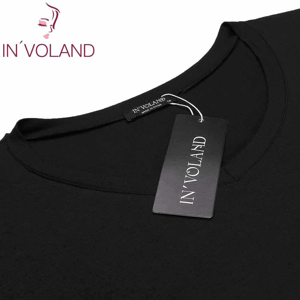 IN'VOLAND Big Size XL-4XL Women's Basic Nightdress V-Neck Short Sleeve Lace Trim Large Nightgown Sleepwear Dress Plus Size 5