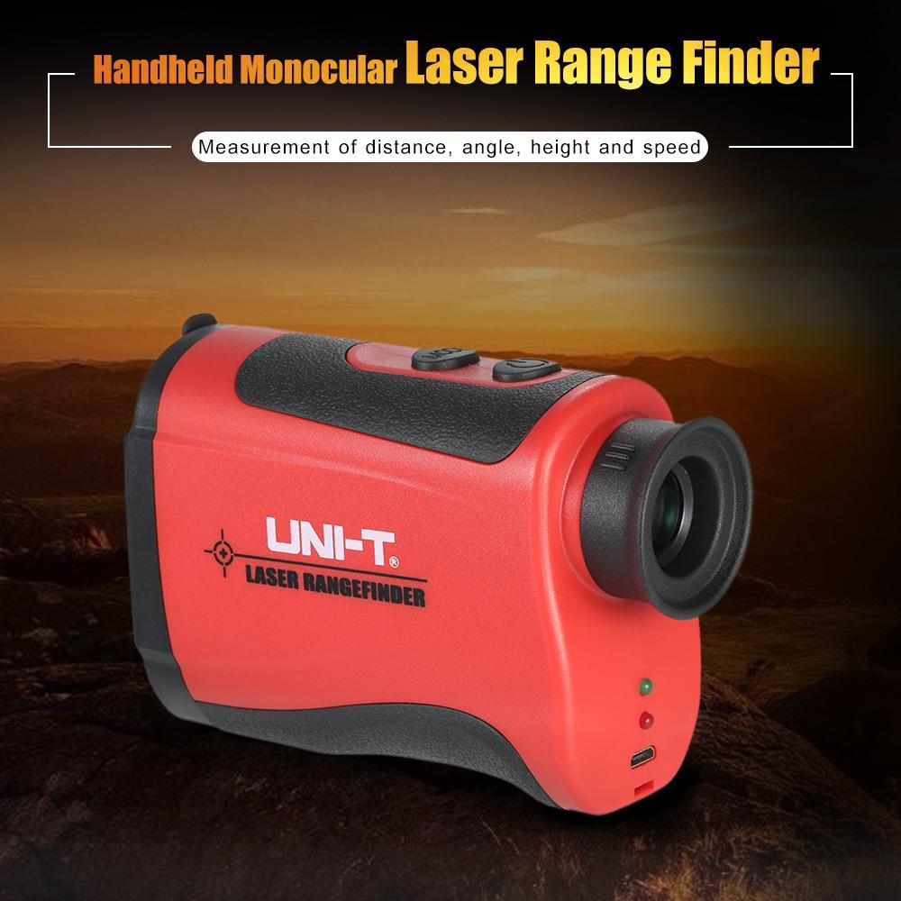 UNI-T 600-1500m Laser rangefinder Handheld Monocular 6X Telescope laser Distance Meter Range Finder for Golf Hunting Outdoor original dvb t satlink ws 6990 terrestrial finder 1 route dvb t modulator av hdmi ws 6990 satlink 6990 digital meter finder