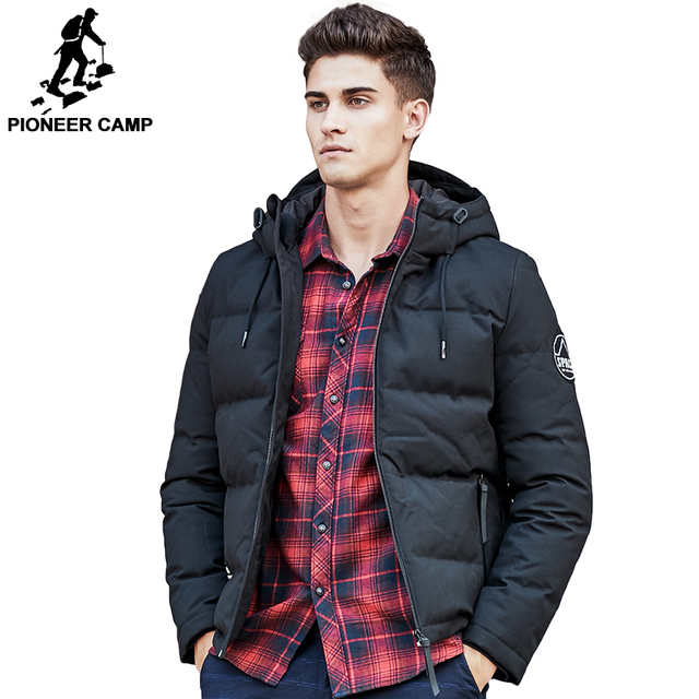 b0910a6b1bbd Pioneer Camp men down jacket brand puffer down jacket men casual Russian  winter duck down coat snow warm parkas for men 611625