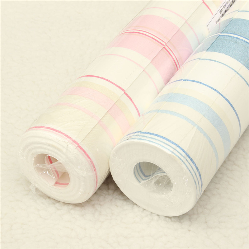 lowest price white blue pink vertical stripes wallpaper roll kids child for wall living room bedroom blue kids furniture wall