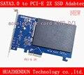 Новая высокоскоростная SATA3.0 для PCI Express X2 SSD DB-2019 карта адаптера SATA III карта ускорителя