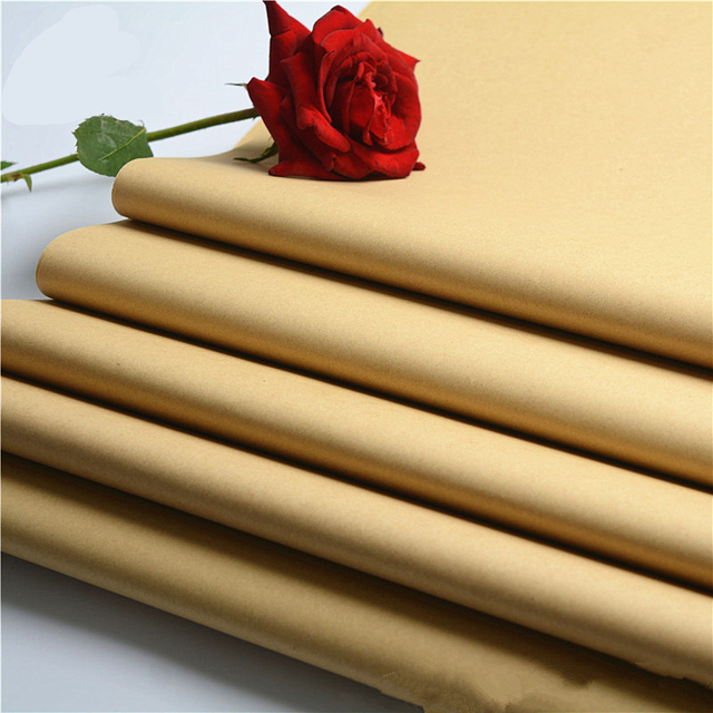 Us 16 99 20 Off 20pcs Lot 58 59cm Kraft Paper Flower Wrapping Paper Gift Packing Diy Handmade Craft Party Decoration Supply Vintage Kraft Paper In
